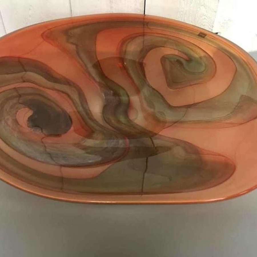 Czech Svaja Large Glass Bowl
