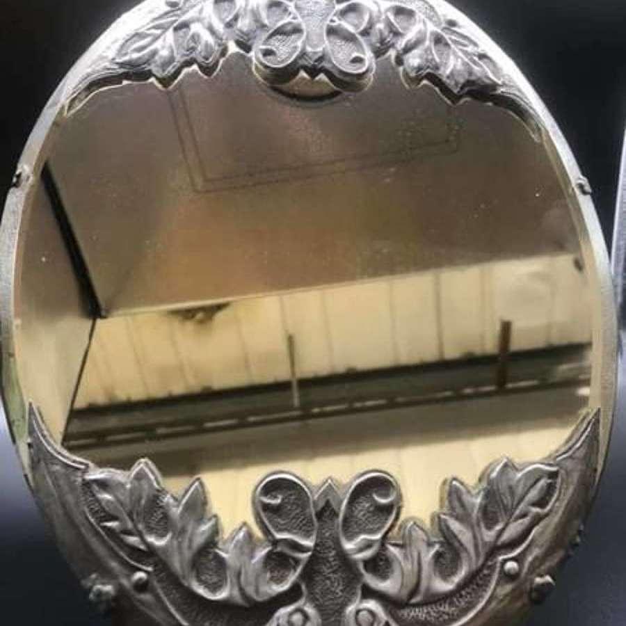 French Art Nouveau Table Mirror