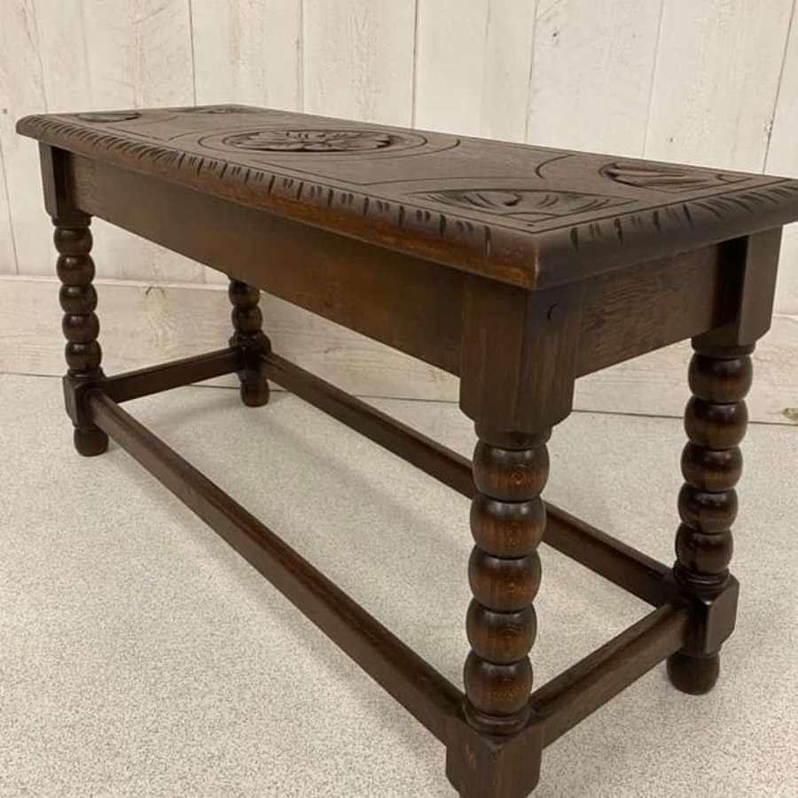 Carved Oak Stool C1920