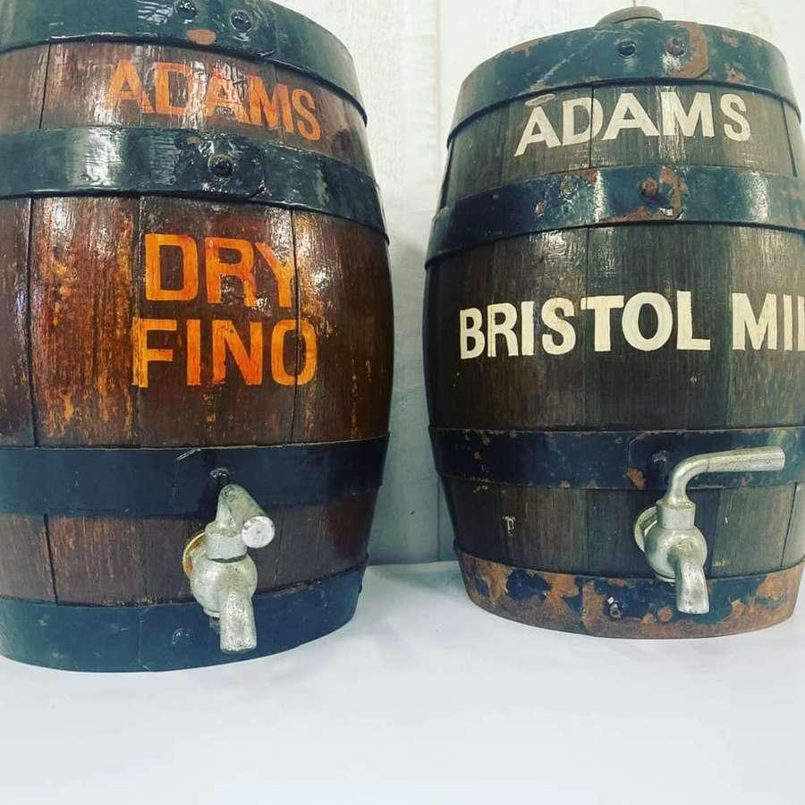 Pair of Miniature Coopered Barrels