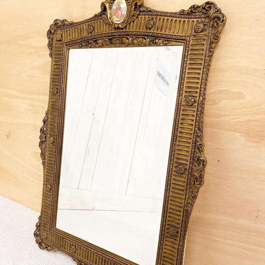 Large Ornate French Gilt Framed Mirror