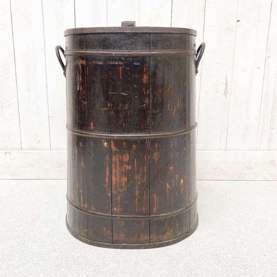 Large Elm Coopered Barrel