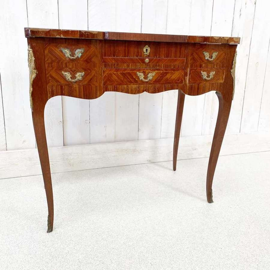 French Kingwood and Marquetry Dressing Table