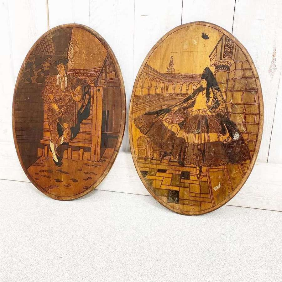 Pair of 1870 Spanish Wall Plaques