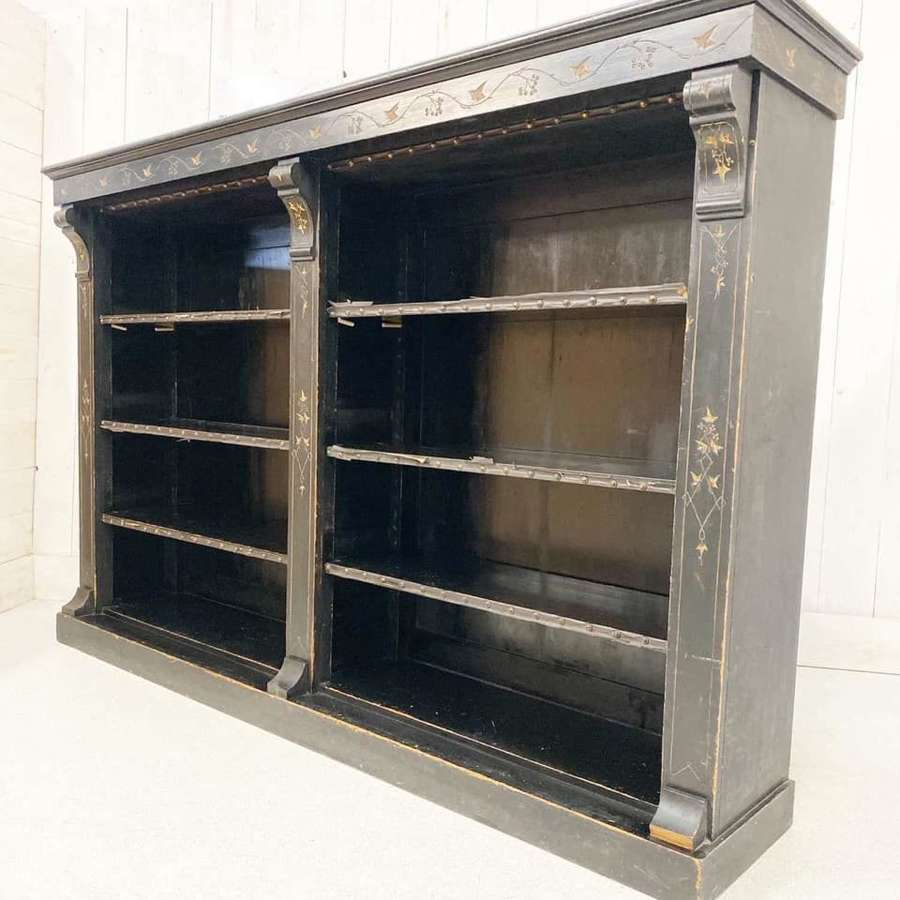 Large Victorian Country House Ebonised Bookcase