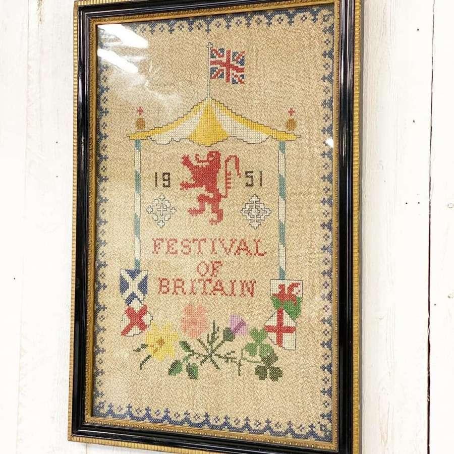 Festival of Britain Wall Sampler