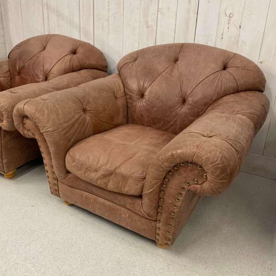 Pair of Thomas Lloyd Leather Chairs