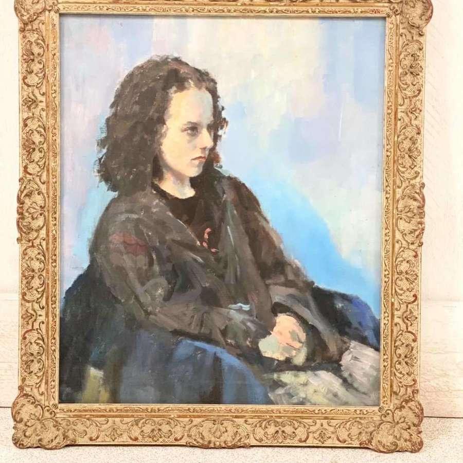 Portrait Painting Oil on Board