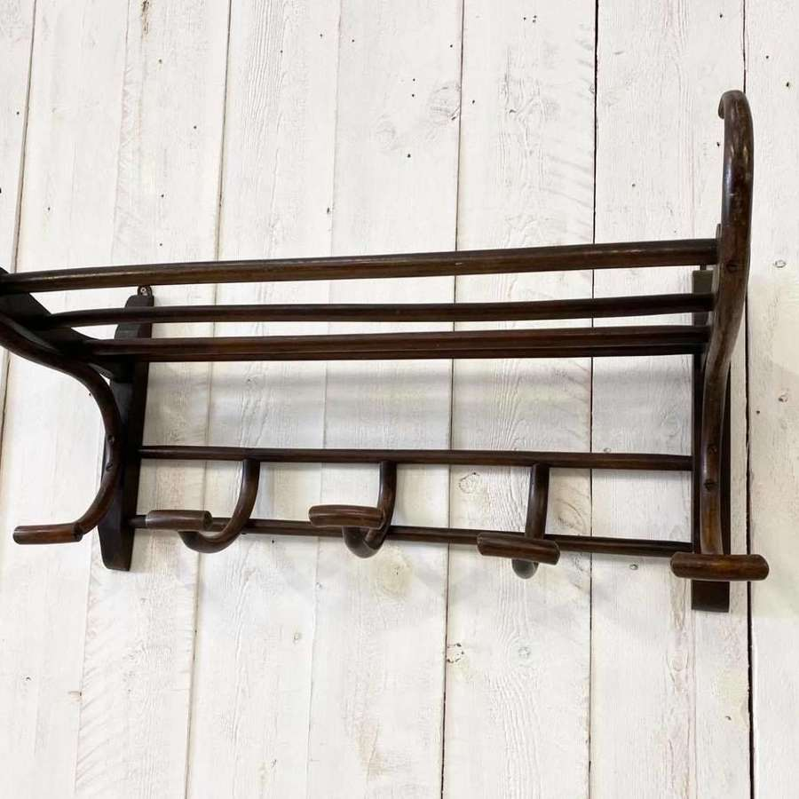 Antique Railway Carriage Bentwood Coat and Luggage Rack