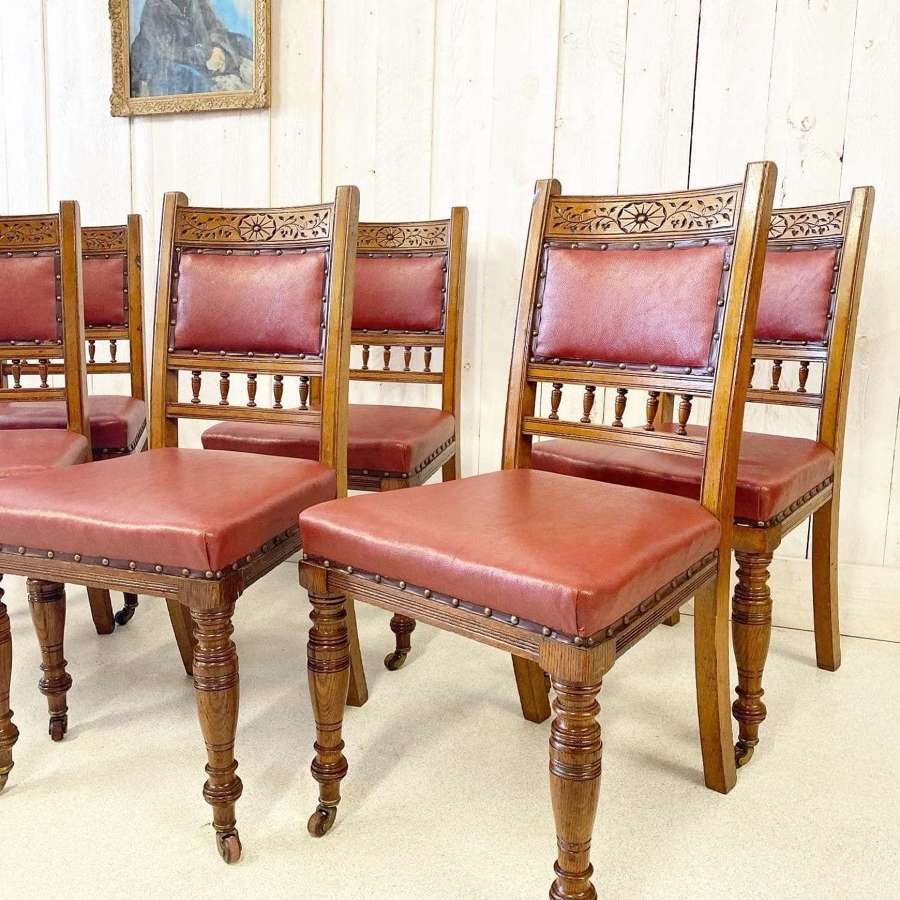 Set of Six Victorian Dining Chairs