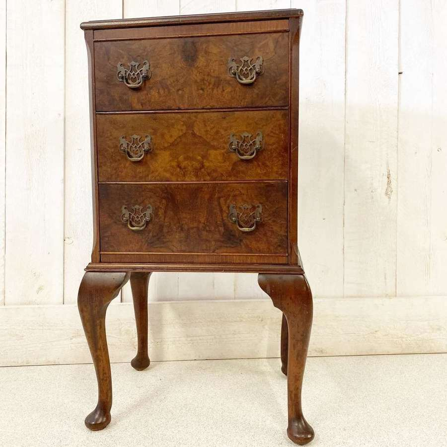 Small Burr Walnut Chest of Drawers
