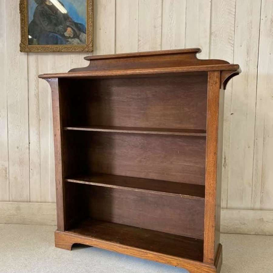 Arts and Crafts Oak and Pine Bookcase