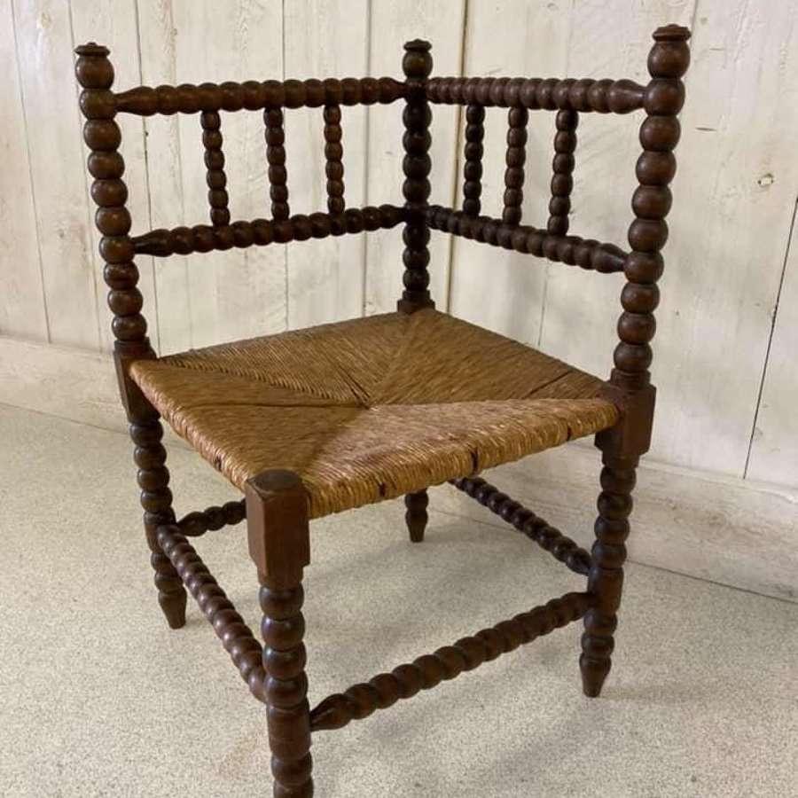 French Oak Bobbin Chair