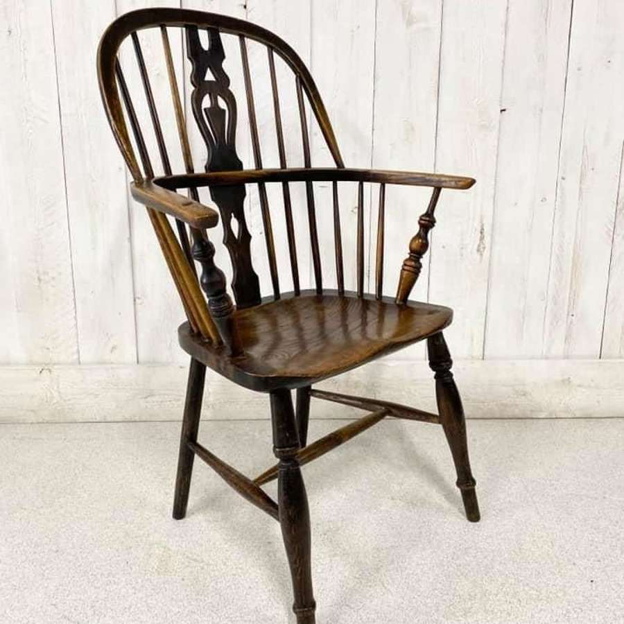 Antique Elm Windsor Chair C1880